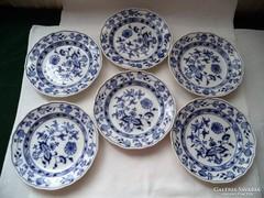 6 db antik meissen tányér