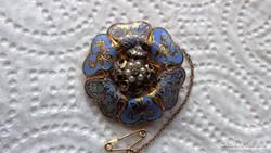 Arany Antik medál és kitűző gyémánttal és gyönggyel  13,1 g