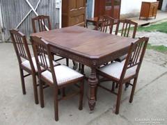 Asztal 6db szék étkező