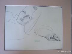 Gyenes Gitta (1888 - 1960) Luca és Lord - eredeti rajz