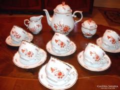 Gyönyörű Orange hollóházi  teás  készlet