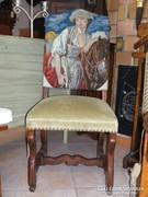 Kossuth  szék  kézi gobelin háttámlával