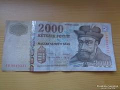 Ritka 2013 CB 2000 Forint ( 2 Aláírás)