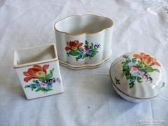 3 db Herendi porcelán