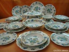 **RITKA 94db Antik12 szem.Francia porcelán+arany evőeszköz*