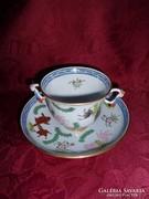 Herendi Antik Poissons teás csésze + alj