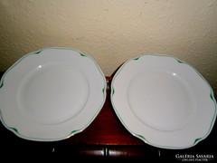 2 db jelzett Meisseni  porcelán tányér
