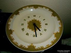 Hollóházi hibátlan  tányér óra