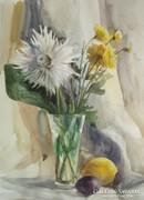 Csendélet virággal