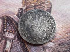 1887 patina,szép db ezüst 1 Florin ritkább