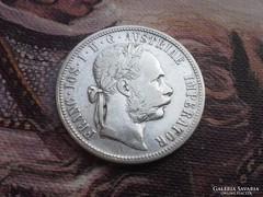 1889 ezüst 1 Florin ritkább évszám,verdefényes