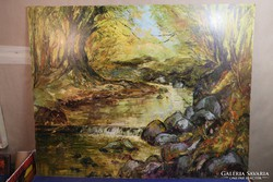 Kusztura Sándor olajfestmény - erdélyi alkotás, oil painting