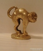 Cica, macska régi bronz szobor
