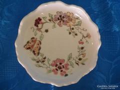 Zsolnay porcelán pillangós hamutartó