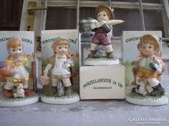 Hummel jellegű biszkvit porcelán gyerekek. Németek, vidékiek