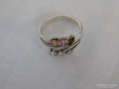 Színes köves ezüst gyűrű