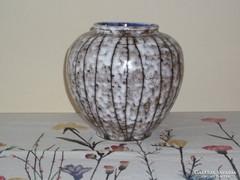 Retro, régi nagyméretű kerámia Tófej váza