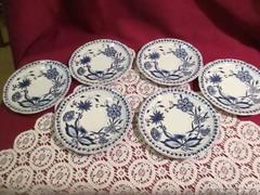 6 db hagymamintás csésze alátét tányér Kahla