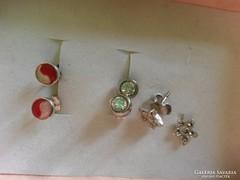 Bájos, 925-ös ezüst, fülik: markazit, button, jin-jang