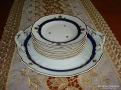 Hollóházi kék rózsa süteményes