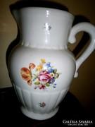 Vastag nehéz Kispesti porcelán kancsó 22 cm