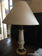 Különleges porcelán, réz, márvány Art Deco lámpatest