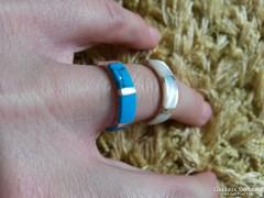 Türkizköves, gyöngyházas ezüst gyűrűk