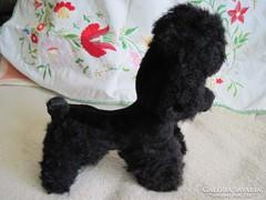 Antik szalma kutya,plüss játék Uszkár