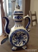 Régi orosz kék fehér porcelán kiöntő