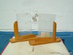 Régi fényképtartó üveggel - két darab