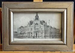 Keretezett Kolozsvár képeslap 1910 körüli