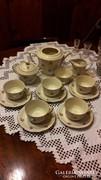 Antik rózsás Zsolnay porcelán teás készlet