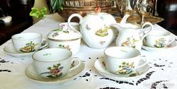Herendi teás készlet,arany fácán mintás