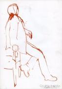 Ülő figura kroki