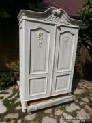 Bécsi barokk fehér szekrény provence