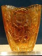 Irizáló antik Brockwitz váza, rózsa mintával