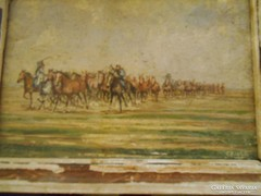 Gross J jelzésű miniatúra akvarell