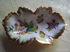 Eredeti, herendi porcelán tálka(szőlőlevél forma)