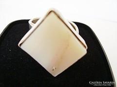 Design ezüst gyűrű állítható