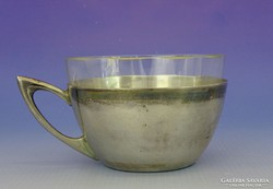 0I459 Antik Dianna fejes ezüst teás csésze 130 g