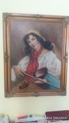 Nagyon régi festmény keretben