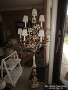 Antik  barokk rokokkó 175 cm magas faragott állólámpa
