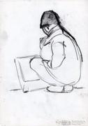 Guggoló rajz télen 3