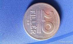 20 fillér pénzérme 1986