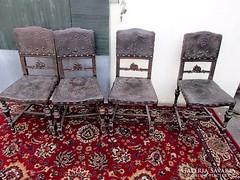4 db bécsi barokk szék