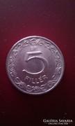 5 fillér pénzérme 1957