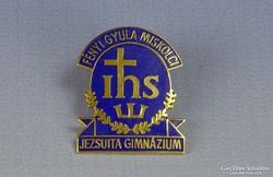 0H073 FÉNYI GYULA JEZSUITA zománc kitűző