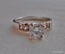 Csodás brill csiszolású církon ezüstgyűrű