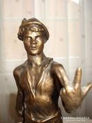 Ludas Matyi, zsűrizett, bronzírozott szobor