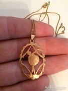 Csodálatos antik 14K-os arany táncosnő medál